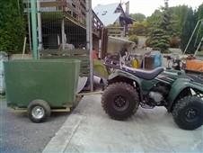 Přívěs za traktůrek - nosnost 450 kg