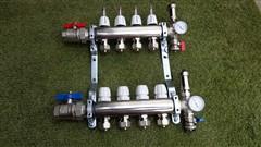 Rozdělovač podlahového topení pro 2 obvody