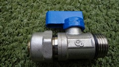 PEX ventil 16mm modrý