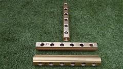 Mosazný rozdělovač neosazený oboustranný - 6 okruhů
