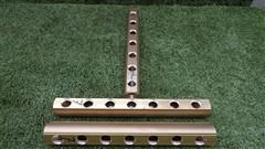 Mosazný rozdělovač neosazený oboustranný - 7 okruhů