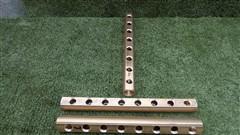 Mosazný rozdělovač neosazený oboustranný - 8 okruhů